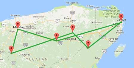 Cartina Yucatan E Chiapas.Mini Tour Yucatan Chichen Itza Merida E Molto Altro 3 Giorni Insiemeintour