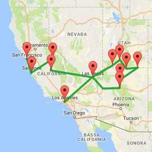 mappa-tour-california-e-parchi