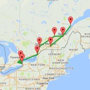 Tour Canada Est