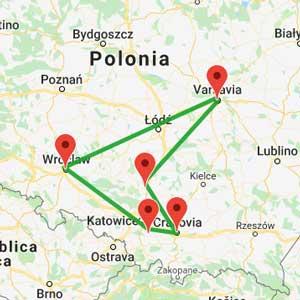mappa tour polonia capodanno
