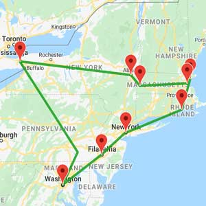 Cartina America New York.Tour New York Boston E Cascate Del Niagara Con Guida Italiana Insiemeintour