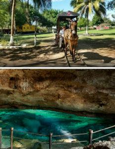hacienda e cenote in Messico
