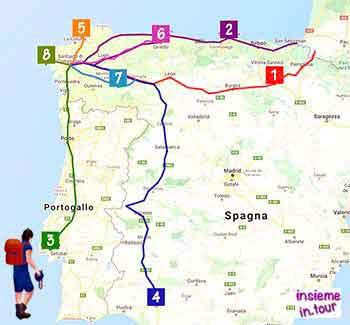 Cammino di Santiago km e percorsi