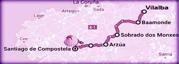 mappa Cammino del Nord