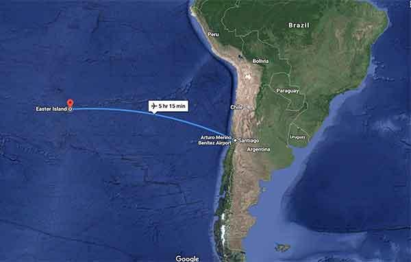mappa tour Cile 10 giorni