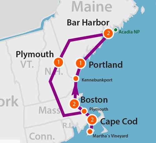 tour del New England